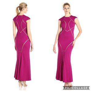 NWT Pink mesh cutout formal Dress